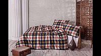Постельное белье с простыней на резинке из фланели (байка) La Notte евро размер, фото 1