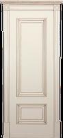 Двери межкомнатные ваниль Йорк ПГ с античным золотом