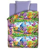 Детское постельное белье Радужные мишки Гамми 1,5-спальный  ТМ Непоседа,100% хлопок