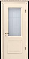 Двери межкомнатные ваниль Версаль ПО с патиной