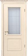 Двери межкомнатные ваниль Версаль ПГ с патиной