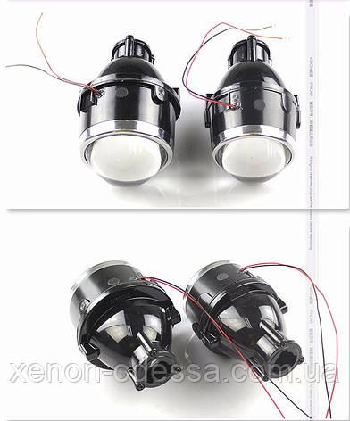 """Биксеноновые противотуманные фонари линзы 3.0"""" с универсальными креплениями / HID Bi-Focal projector M612 3.0"""", фото 2"""