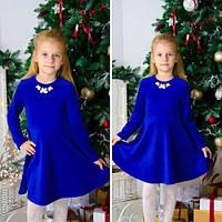 Детское платье из велюра с украшением