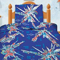 Детское постельное белье Трансформеры 1,5-спальный ТМ Непоседа 100% хлопок голубой