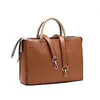 Стильная большая вместительная женская сумка рыжего цвета от C&A