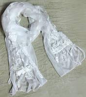 Женский шарфик 170 на 35 dress 779_бел