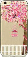 Прозрачный силиконовый чехол дерево с клеткой для iphone 6/6S