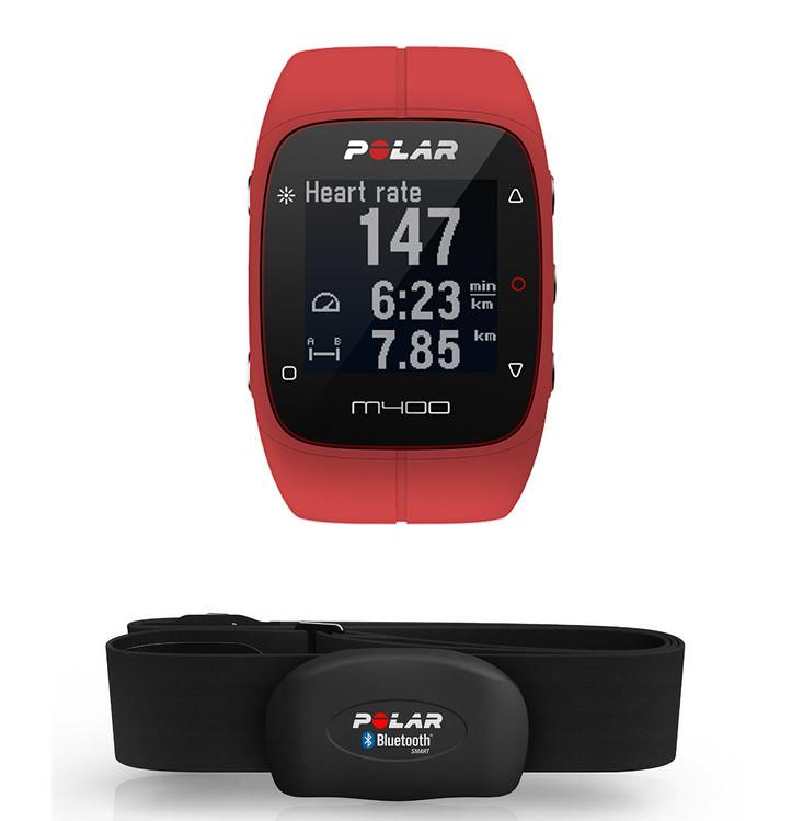 Спортивний годинник-пульсометр Polar M400 RED HR