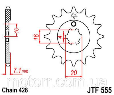 Звезда передняя JT JTF555.14
