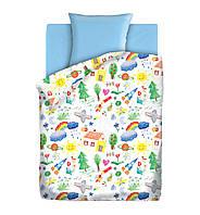 Детское постельное белье Радуга 1,5-спальный  ТМ Непоседа, 100% хлопок
