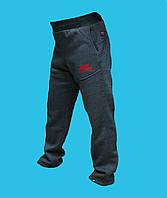 Брюки Nike трикотажные зимние чёрно-серые