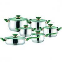 Набор посуды MR 2012,12 предметов,нержавейка
