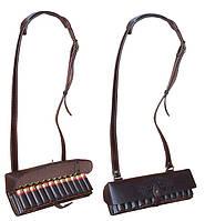 Патронташ кожаный двухрядный  12 к*24 патр. Плечевой