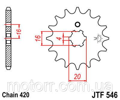 Звезда передняя JT JTF546.14