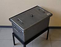 Коптильня двух-ярусная с гидрозатвором 520х300х280