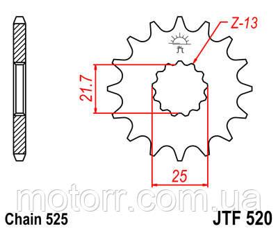Звезда передняя JT JTF520.17