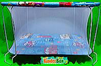 Манеж детский игровой(машинки) с мелкой сеточкой