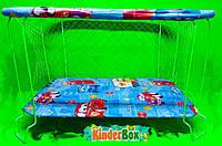 Манеж детский игровой(машинки)с крупной сеточкой