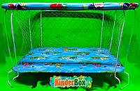 Манеж детский игровой(лужайка)с крупной сеточкой