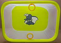 Детский манеж игровой KinderBox(желтый слоник)