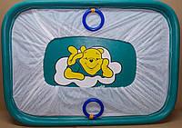 Манеж детский игровой KinderBox(синий медвежонок)
