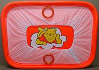 Манеж детский игровой KinderBox(оранжевый медвежонок)