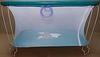Манеж детский игровой KinderBox(синий слоник)