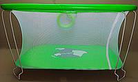 Детский манеж игровой KinderBox(зеленый слоник)