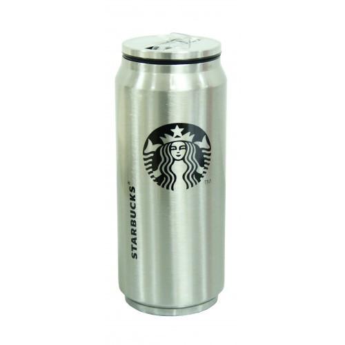 """Термос-банка Starbucks """" Старбакс Элит"""" с клапаном и трубочкой 500 мл стальной"""