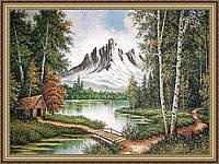 "Картина гобеленовая ""Избушка в лесу"" 600х800мм №G200"