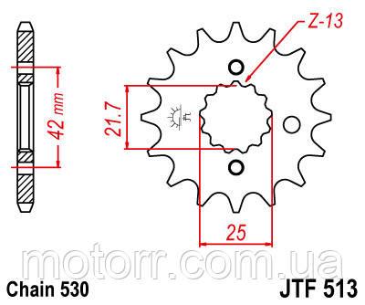 Звезда передняя JT JTF513.17