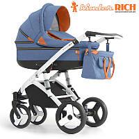 Детская универсальная коляска 2 в 1 Kinder Rich Marathon Denim Blue
