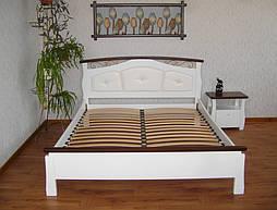 """Белая деревянная кровать с мягким изголовьем """"Констанция"""""""