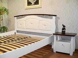 """Белая деревянная кровать с мягким изголовьем """"Констанция"""" 2"""