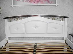 """Белая деревянная кровать с мягким изголовьем """"Констанция"""" 3"""