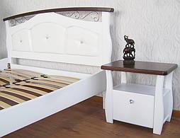 """Белая деревянная кровать с мягким изголовьем """"Констанция"""" 4"""