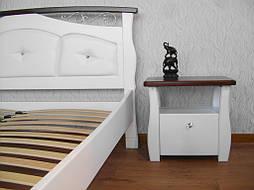 """Белая деревянная кровать с мягким изголовьем """"Констанция"""" 5"""