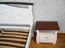 """Белая деревянная кровать с мягким изголовьем """"Констанция"""" 7"""