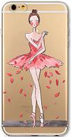 Силиконовый чехол балерина для iphone 6/6S