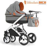 Детская универсальная коляска 2 в 1 Kinder Rich Marathon Denim Grey