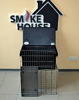 Коптильня с термометром для горячего копчения окрашенная 520х300х280