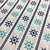 Ткань с сине-бирюзовыми штурвалами