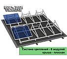 Система креплений для солнечных панелей на плоскую крышу (на 8 панелей)