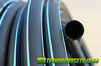 Труба ПЭ 50 6 атм. Evci Plastik магистральная черная с синей полосой