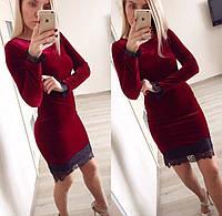 Платье из бархата удлиненное 4085