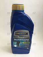Моторное масло полусинтетическое 10W40 для 4-х тактных лодочных двигателей Ravenol 1 л, фото 1