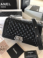Сумочка Chanel  Boy Chavron Flap натуральная кожа