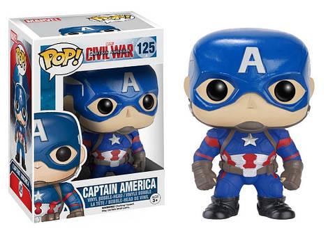 Капитан Америка виниловая фигурка супергерой Мстители  / Captain America Avengers Marvel Funko POP