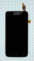 Модуль (дисплей + сенсор) Lenovo S650 black original