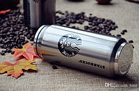 """Термос-банка Starbucks """"Звездный бакс Элит"""" с клапаном и трубочкой 500 мл стальной"""